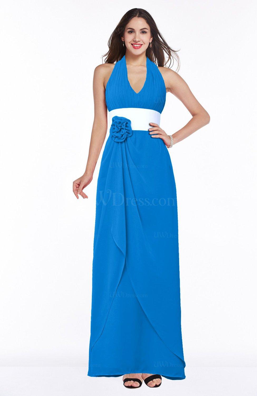 Cornflower Blue Glamorous A-line Sleeveless Zipper Chiffon ... - photo#22
