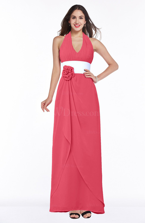 Guava color bridesmaid dresses uwdress guava glamorous a line sleeveless zipper chiffon plus size bridesmaid dresses ombrellifo Gallery