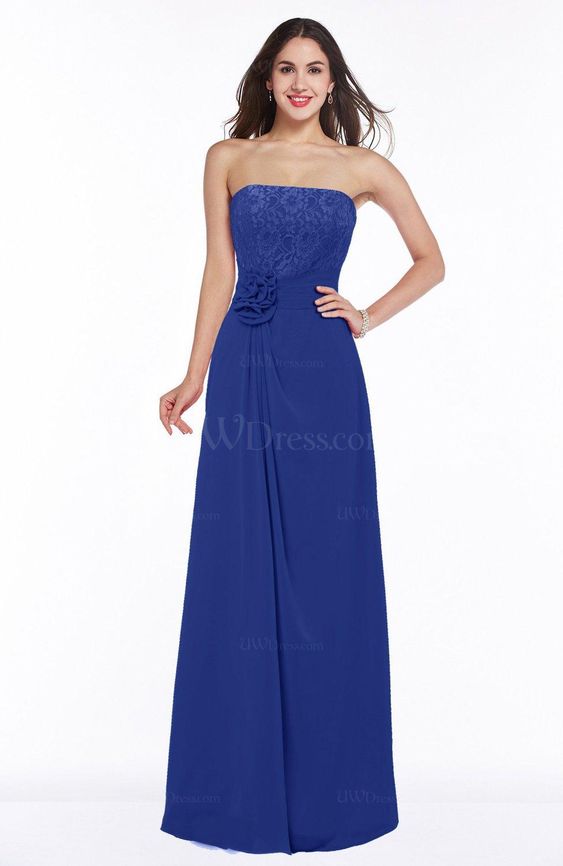 Electric blue disney princess a line strapless zipper for Disney line wedding dresses