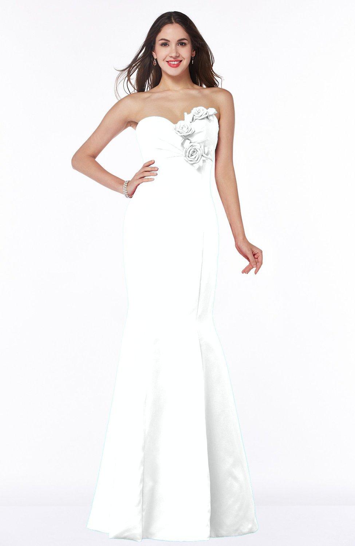 White sexy mermaid sweetheart sleeveless zip up satin plus for Sexy plus size wedding dresses