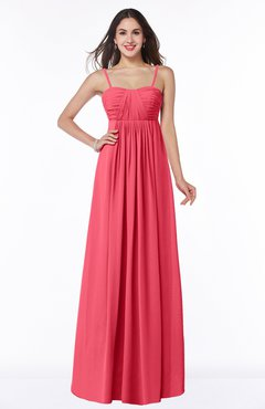 Guava Color Bridesmaid Dresses Cinderella - UWDress.com