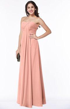 Peach colored plus size dress