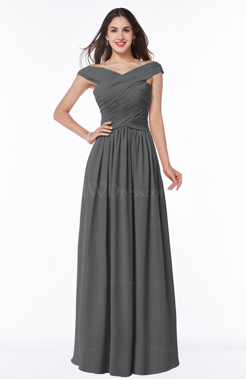 Grey traditional a line sleeveless chiffon floor length plus size traditional a line sleeveless chiffon floor length plus size bridesmaid dresses ombrellifo Image collections