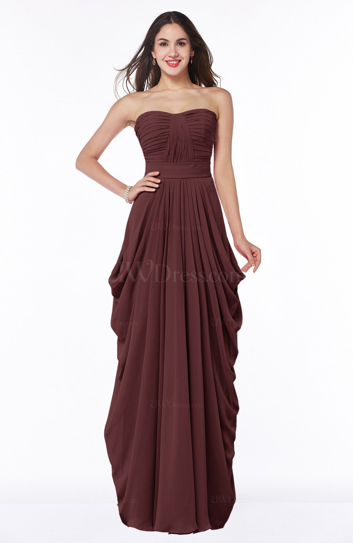 Burgundy cinderella half backless chiffon floor length for Burgundy wedding dresses plus size