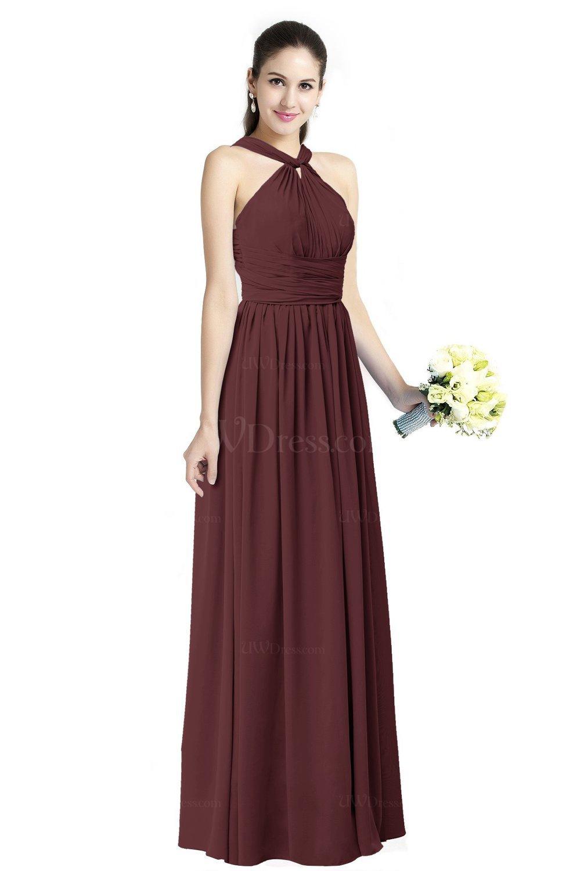 Burgundy traditional a line halter criss cross straps for Burgundy wedding dresses plus size