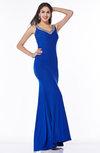 Elegant Fishtail Sleeveless No Rhinestone Plus Size Prom Dresses