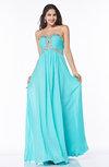 Modern Sleeveless Zipper Chiffon Floor Length Plus Size Prom Dresses