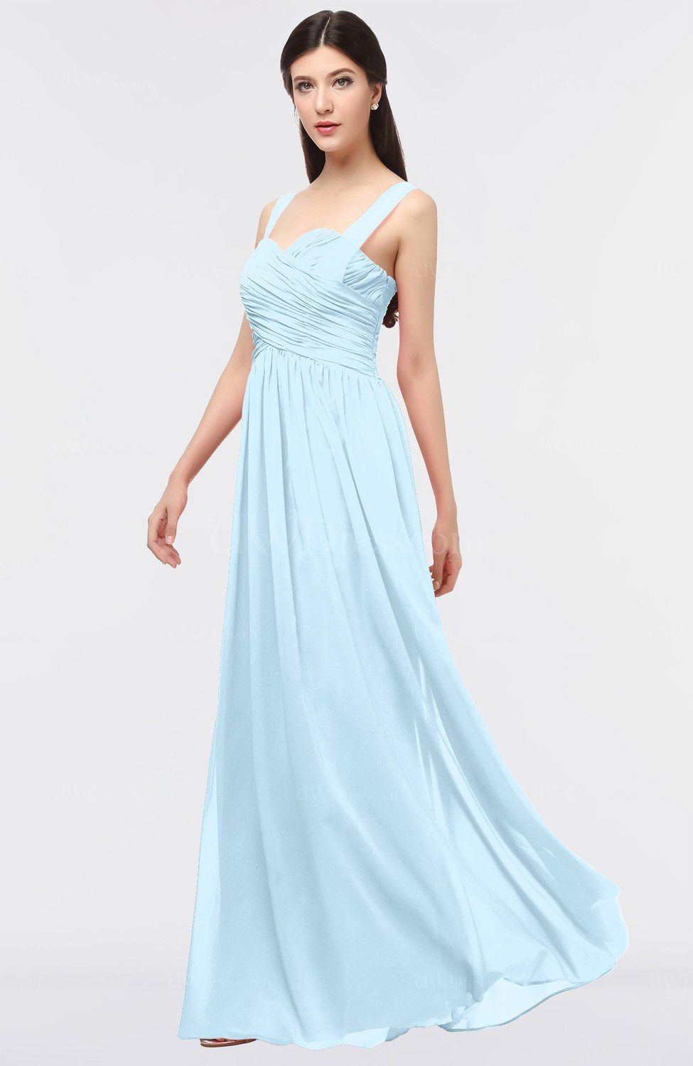 Ice blue glamorous a line thick straps zip up ruching bridesmaid glamorous a line thick straps zip up ruching bridesmaid dresses ombrellifo Image collections