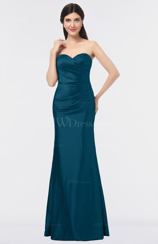 Moroccan Blue Glamorous Strapless Sleeveless Zip up Floor ... - photo#10