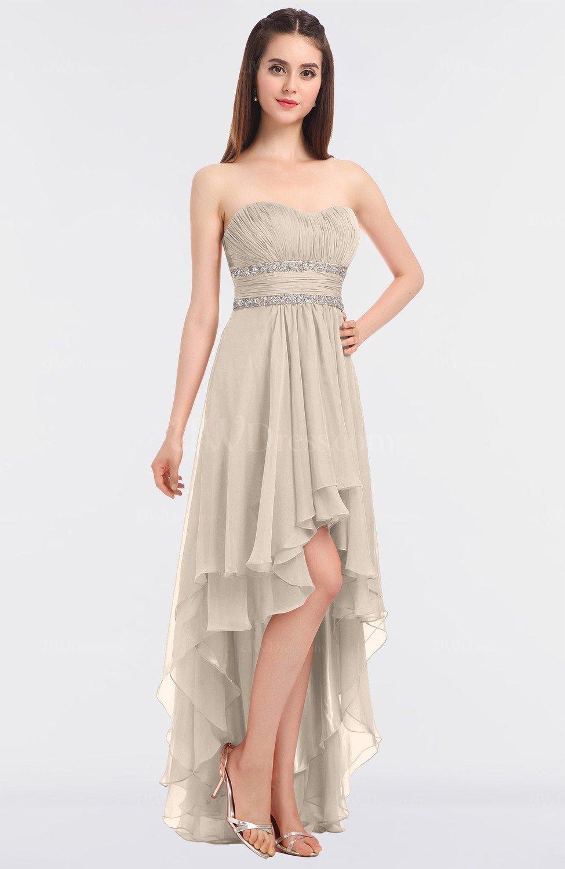 Pastel Rose Tan Elegant Strapless Sleeveless Zip Up