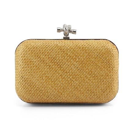 National Shoulder Bags Single Shoulder Strap Knit Metal