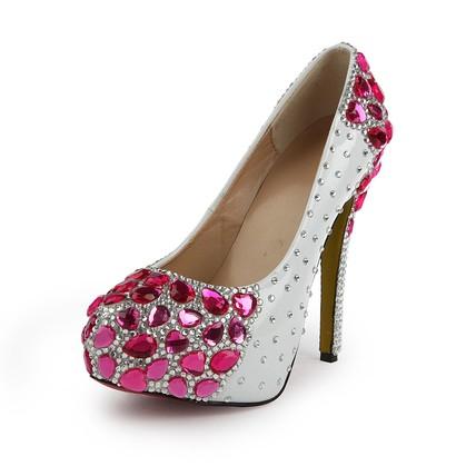 Rhinestone Platforms Wedding Girls' Average Pumps/Heels Stiletto Heel