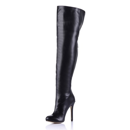 Girls' Boots PU Zipper Wedding Boots Stiletto Heel