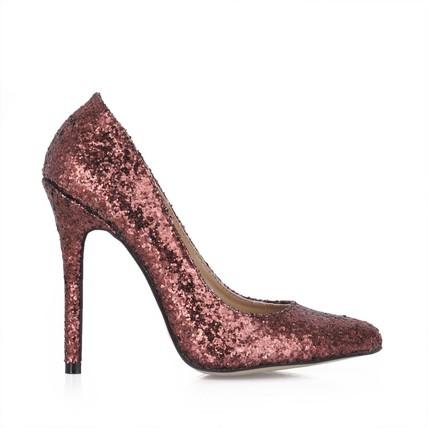 chocolate brown girls' wedding shoes narrow dress stiletto