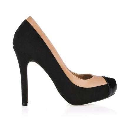 black split joint wedding shoes captoe narrow stretch