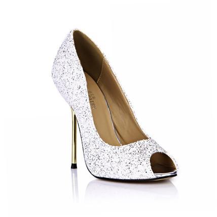 platinum sparkling glitter wedding shoes women 39 s sequined