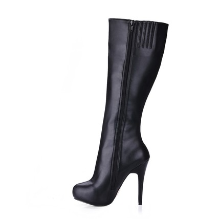 Narrow Wedding Shoes Stiletto Heel Girls' Knee High Boots Boots Zipper
