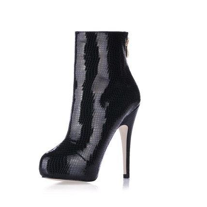 Office & Career Pumps/Heels Stiletto Heel Opalescent Lacquers Bootie Narrow Zipper