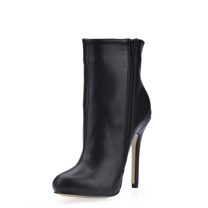 PU Boots Stiletto Heel Closed Toe Office & Career Zipper Women's