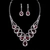 Rhinestones Drop Earrings Jewelry Sets Wedding Stylish