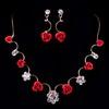 Rhinestones Drop Earrings Charming/Glamourous Anniversary Jewelry Sets