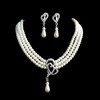 Luxurious Clip Earrings Imitation Pearl Jewelry Sets Birthday