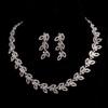 Rhinestones Chain Necklaces Anniversary Elegant Jewelry Sets