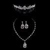Rhinestones Drop Earrings Jewelry Sets Wedding Fashional