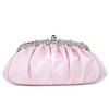 Silk Clutches Crystal/Rhinestone Single Strap Lovely