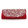 Silk Shoulder Bags Fashional Single Shoulder Strap Crystal/Rhinestone