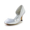 D'Orsay & Two-Piece Pumps/Heels Dress Low Heel Average Silk Like Satin Bowknot