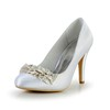 Women's Wedding Shoes Pumps/Heels Average Cone Heel Wedding Satin Flower