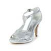 PU Wedding Shoes Cone Heel Open Toe Women's Buckle Average