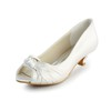 Average Pumps/Heels Graduation Girls' Peep Toe Satin Low Heel