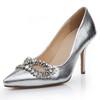 Average Pumps/Heels Dress Rhinestone Genuine Leather Pointed Toe Kitten Heel
