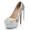 Girls' Platforms Wedding Stiletto Heel Imitation Pearl Average Round Toe