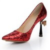 Sequined Cloth/Sparkling Glitter Wedding Shoes Average Stiletto Heel Girls' Pointed Toe Outdoor