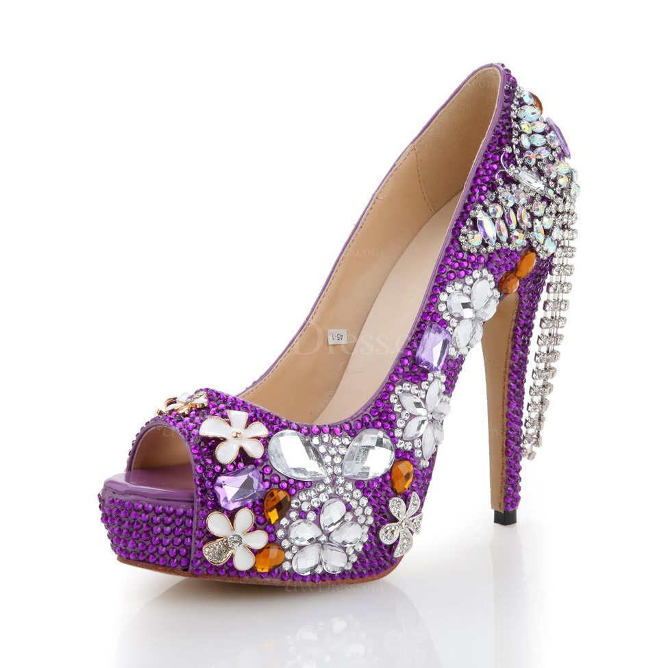 Lilac Women S Wedding Shoes Dress Average Patent Leather