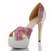 Average Wedding Shoes Women's Patent Leather Rhinestone Sandals Graduation