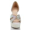 Peep Toe Sandals Women's Stiletto Heel Patent Leather Average Dress