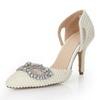Outdoor Sandals Patent Leather Women's Cone Heel Sandals Rhinestone