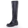 Dress Flats Girls' Genuine Leather Knee High Boots Round Toe Average