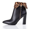 Genuine Leather Pumps/Heels Average Booties/Ankle Boots Boots Women's Casual