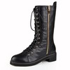 Casual Flats Lace-Up Women's Bootie Mid-Calf Boots Low Heel
