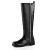 Low Heel Wedding Shoes Casual Genuine Leather Average Knee High Boots Zipper