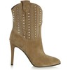 Cone Heel Boots Average Outdoor Pointed Toe Mid-Calf Boots Women's
