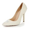 Patent Leather Wedding Shoes Girls' Flower Stiletto Heel Average Wedding