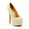 Rubber Pumps/Heels Average Stiletto Heel Imitation Pearl Dress Women's