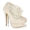 Cone Heel Wedding Shoes Wedding Average Pointed Toe Lace Girls'
