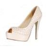 Patent Leather Wedding Shoes Rivet Girls' Cone Heel Peep Toe Outdoor